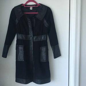 Diane Von Furstenberg leather trimmed jacket